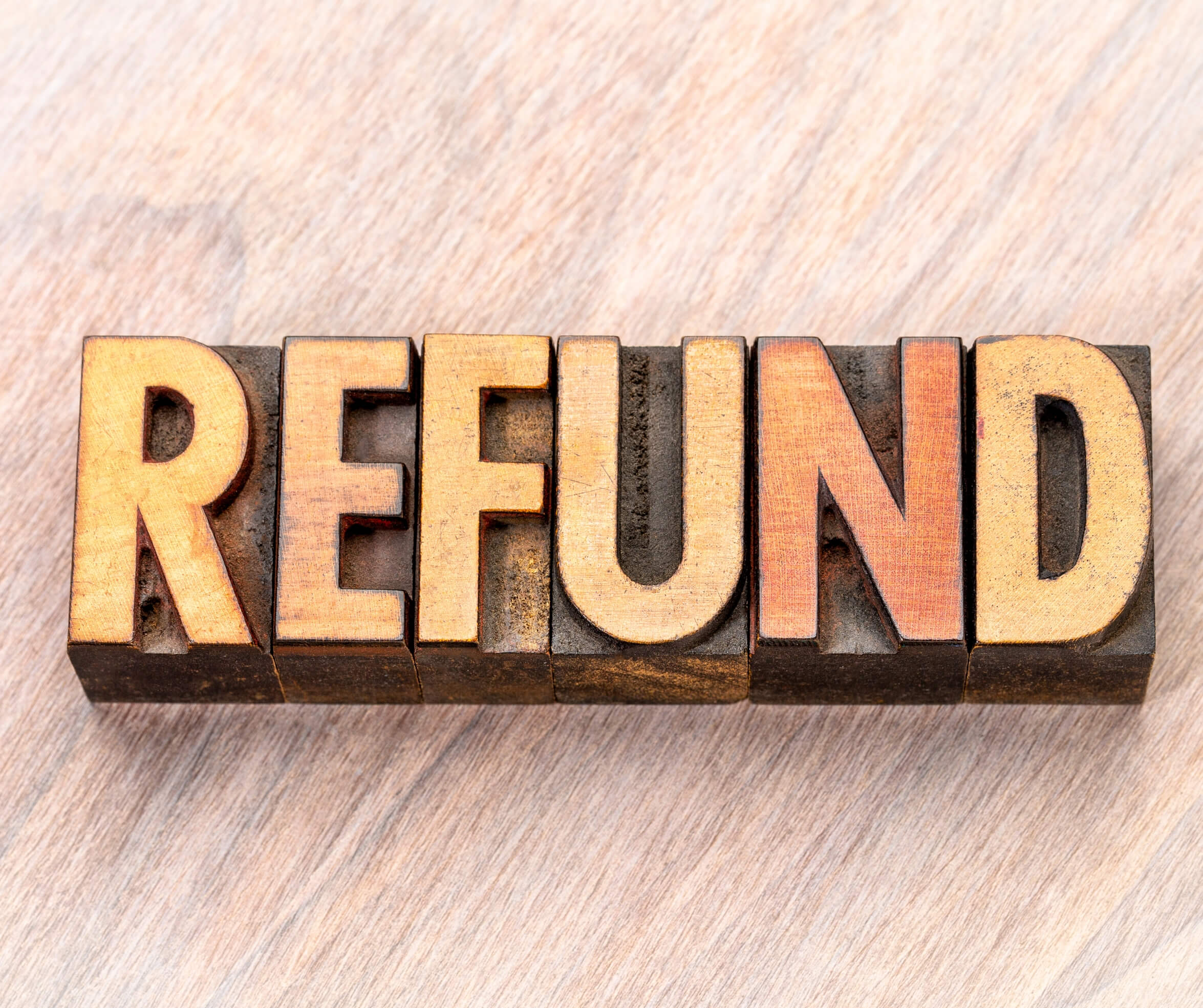 While Receiving a Refund